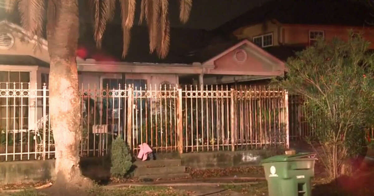 Six people escaped a house fire in southeast Harris County.