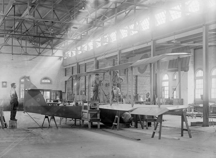 With the advent of planes, such as this one being built at the U.S. Army Airplane Factory in Alexandria, Virginia, circa 1918, wartime petroleum supplies became a critical strategic military issue.  Photo: Universal History Archive/UIG Via Getty Images