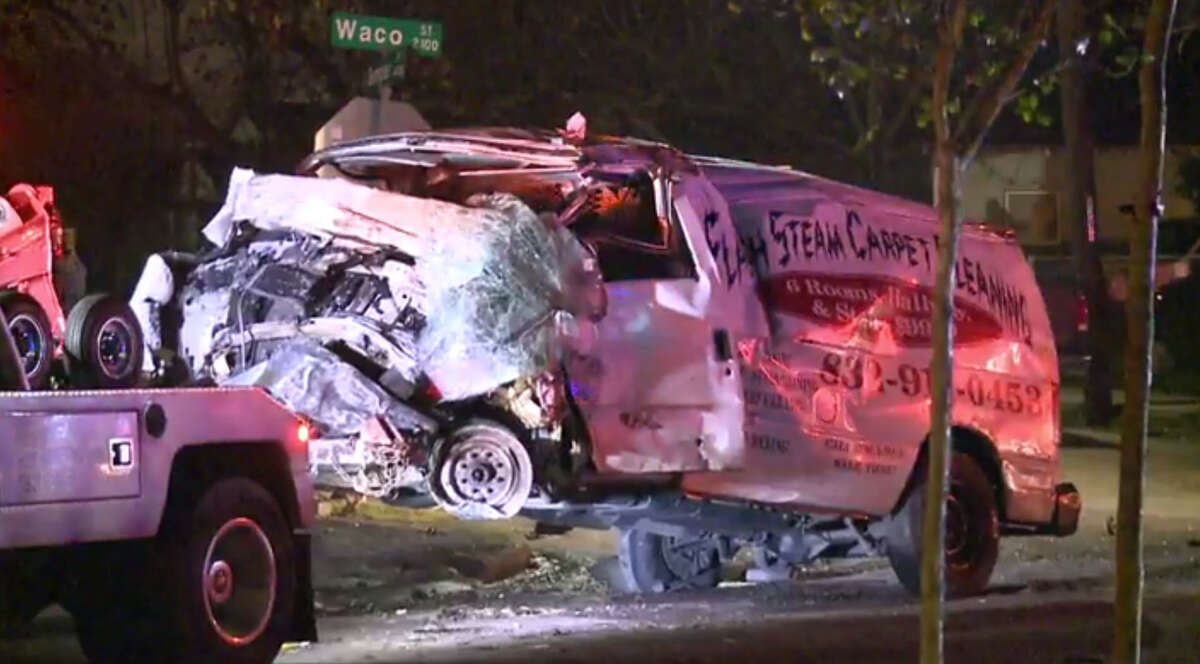 An out-of-control vehicle crashed in the porch of a Harris County home just after midnight.