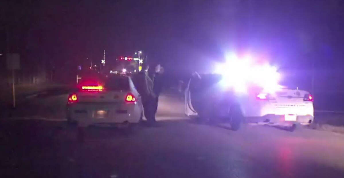 A man was hit in a drive-by shooting on New Year's Eve near Houston city limits.