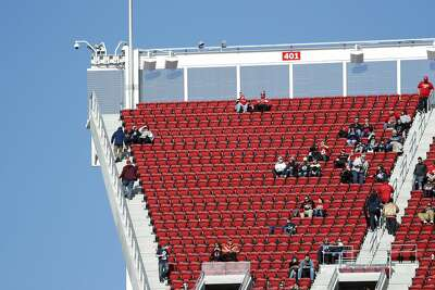Empty seats at Levi's Stadium are shown before an NFL football game between the San Francisco 49ers and the Seattle Seahawks in Santa Clara, Calif., Sunday, Jan. 1, 2017. (AP Photo/Tony Avelar)