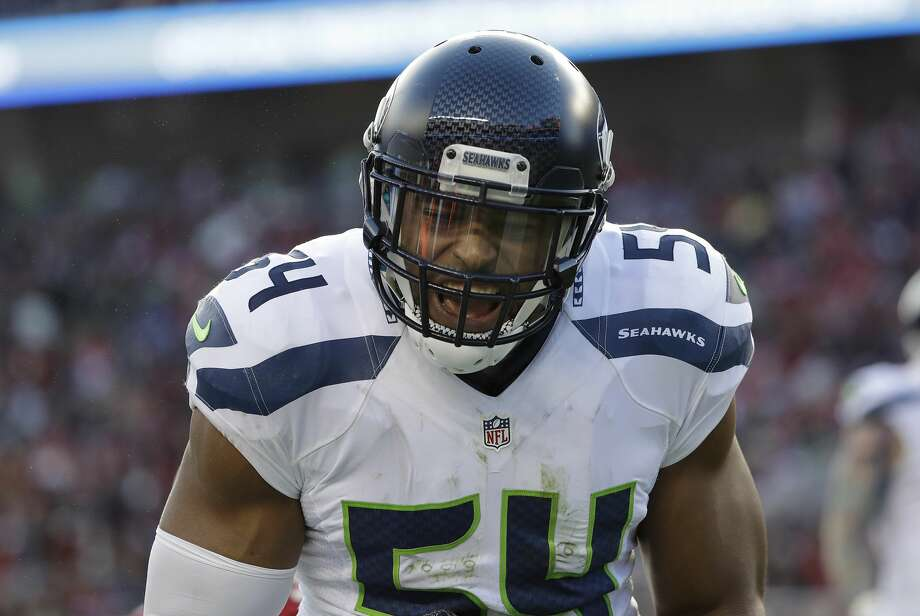 Seattle Seahawks middle linebacker Bobby Wagner yells against the San Francisco 49ers during the first half of an NFL football game in Santa Clara, Calif., Sunday, Jan. 1, 2017. (AP Photo/Marcio Jose Sanchez) Photo: Marcio Jose Sanchez/AP