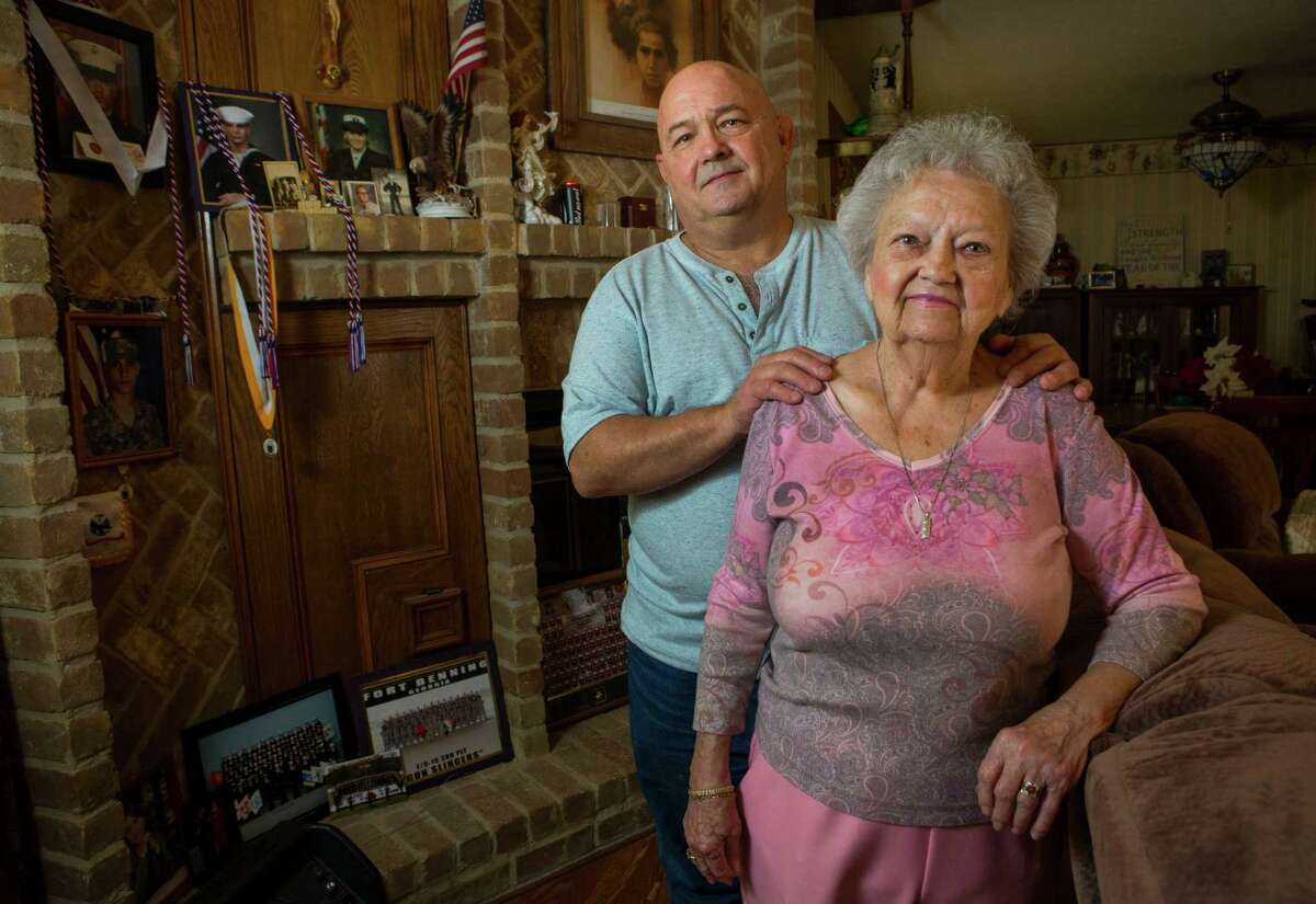 Jerry Stansel worries how his mother, Billie, will cope under reforms to the city's firefighters pensions.