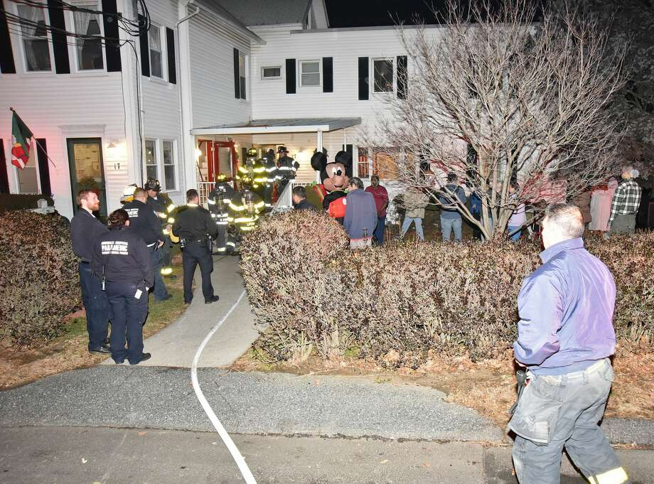 On Jan. 1, 2017, a mattress fire at a nursing home forced about 25 residents to evacuate the building into freezing temperatures. Firefighters responded to the Carlson Place residence at 17 Nelson Ave. at 7:14 p.m. after receiving an automatic fire alarm from the facility. Photo: Harold F. Cobin
