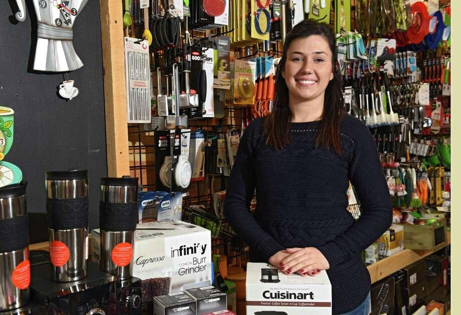Samantha Fagan, owner of Culinary Square, stands in her store on Wednesday, Dec. 14, 2016 in Troy, N.Y. (Lori Van Buren / Times Union) Photo: Lori Van Buren / 20039146A
