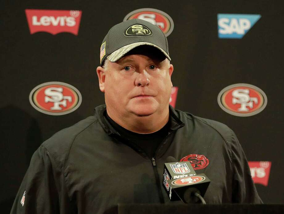 San Francisco 49ers head coach Chip Kelly speaks at a news conference after an NFL football game against the Seattle Seahawks in Santa Clara, Calif., Sunday, Jan. 1, 2017. (AP Photo/Marcio Jose Sanchez) Photo: Marcio Jose Sanchez, STF / Copyright 2017 The Associated Press. All rights reserved.