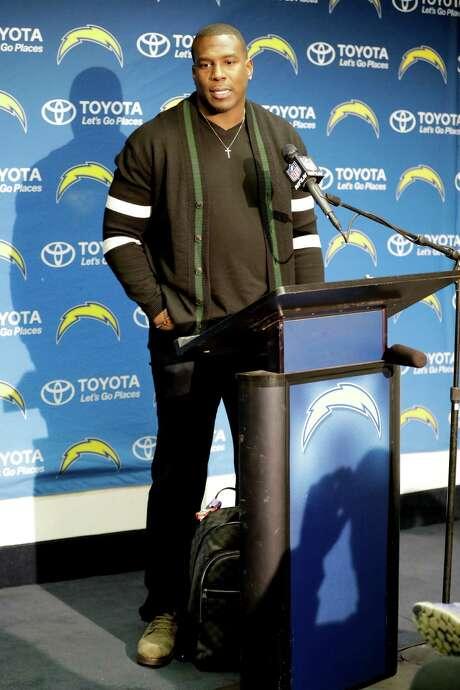 San Diego Chargers tight end Antonio Gates speaks after an NFL football game against the Kansas City Chiefs Sunday, Jan. 1, 2017, in San Diego. (AP Photo/Alex Gallardo) Photo: Alex Gallardo, FRE / FR170211 AP