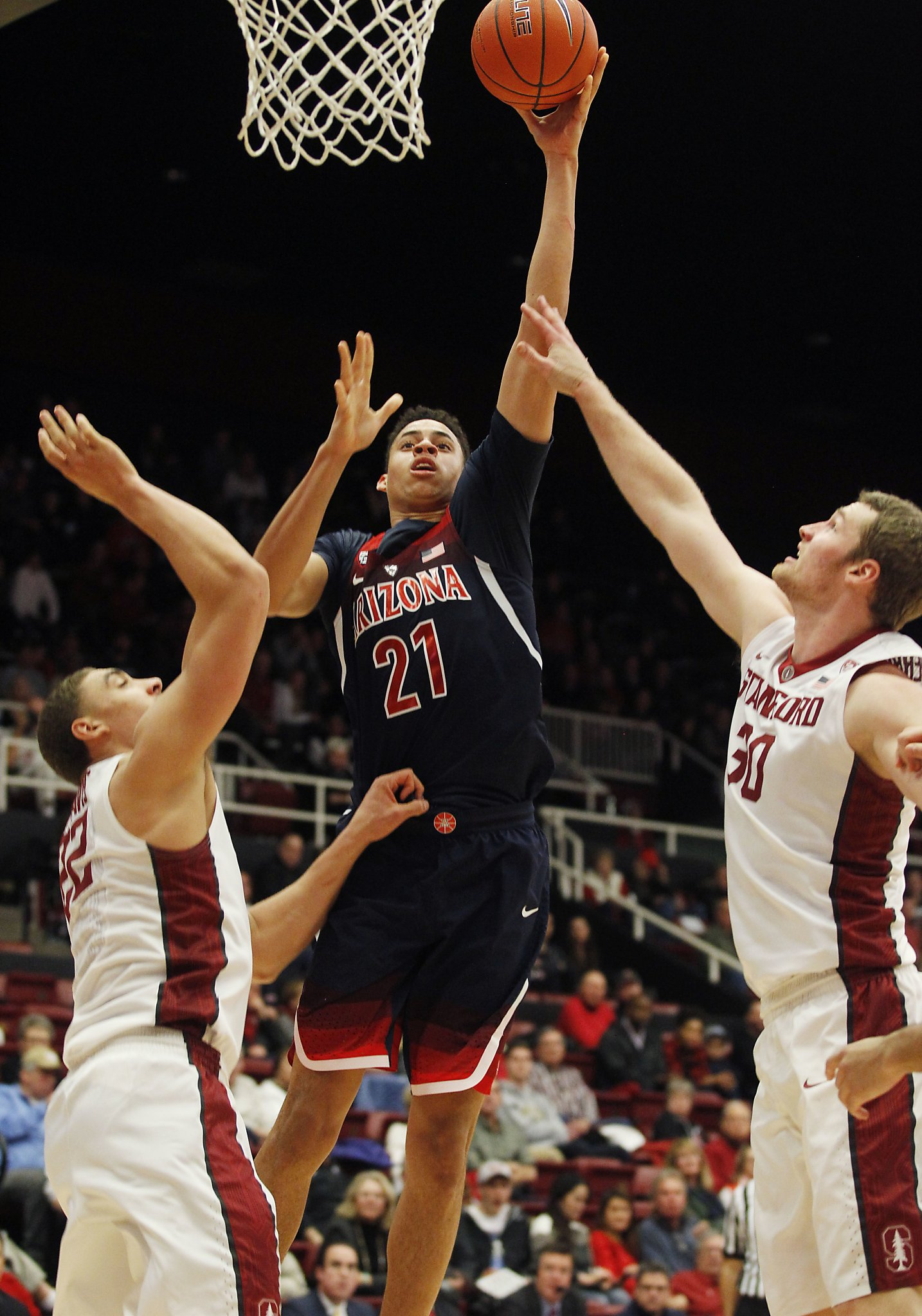 Arizona big men crush Stanford - SFChronicle.com