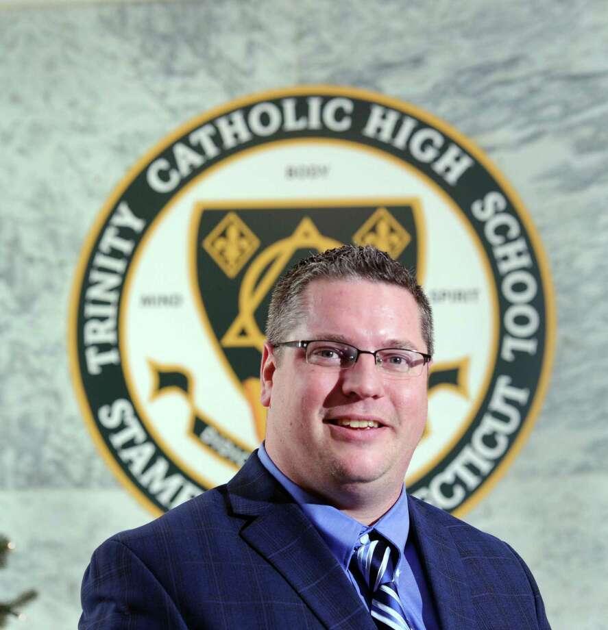 The new Trinity Catholic High School Principal, David Williams, at the school in Stamford, Conn., Wednesday, Dec. 21, 2016. Photo: Bob Luckey Jr. / Hearst Connecticut Media / Greenwich Time