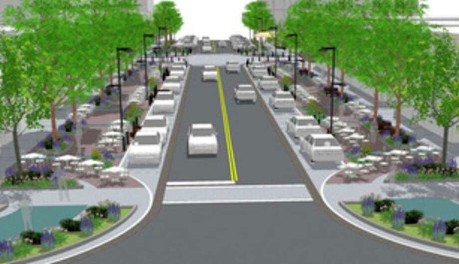 Downtown Midland Streetscape Rendering.