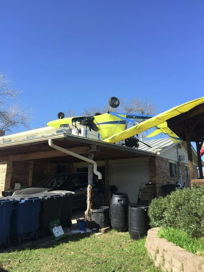 About 11:30 a.m. Jan. 1, 2017, the New Braunfels Police Department received  reports that a small aircraft had crashed into a residence in the 1600  block of Wald Road.   Photo: New Braunfels Police
