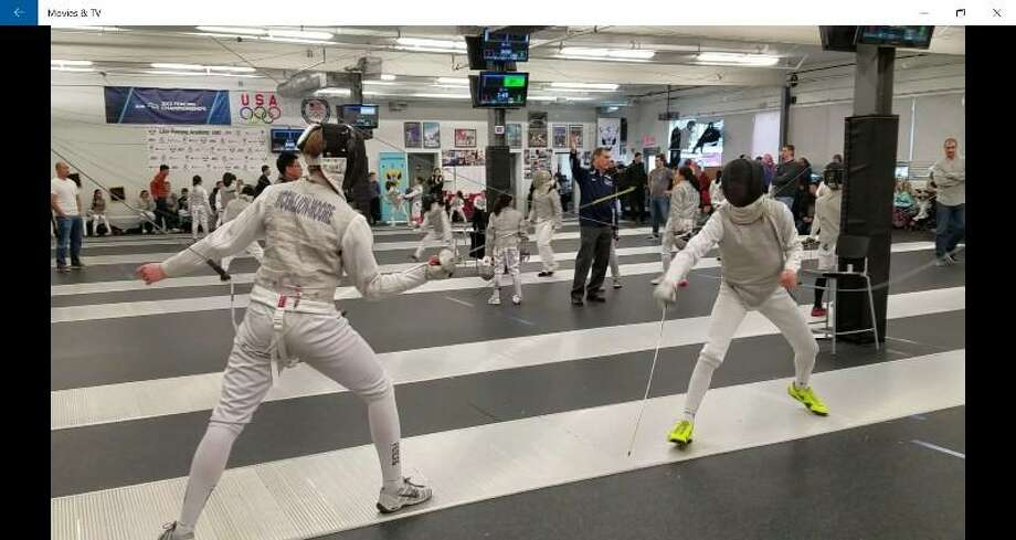 Staples High School freshman and foil fencer Jake McGillion-Moore clinched first place for the Northeast Region Y14 division with his third win of the season at Lilov Fencing Academy in Cedar Grove, N.J. last weekend. Photo: Contributed Photo