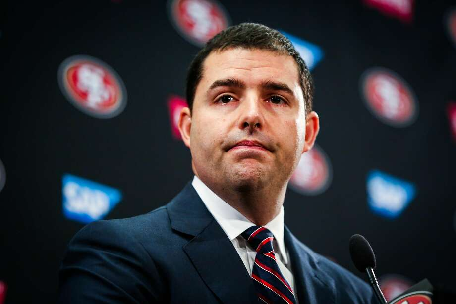 San Francisco 49ers CEO Jed York speaks at a press conference regarding the firing of both the general manager Trent Baalke and coach Chip Kelly in Santa Clara, Calif., on Monday, Jan. 2, 2017. Photo: Gabrielle Lurie, The Chronicle