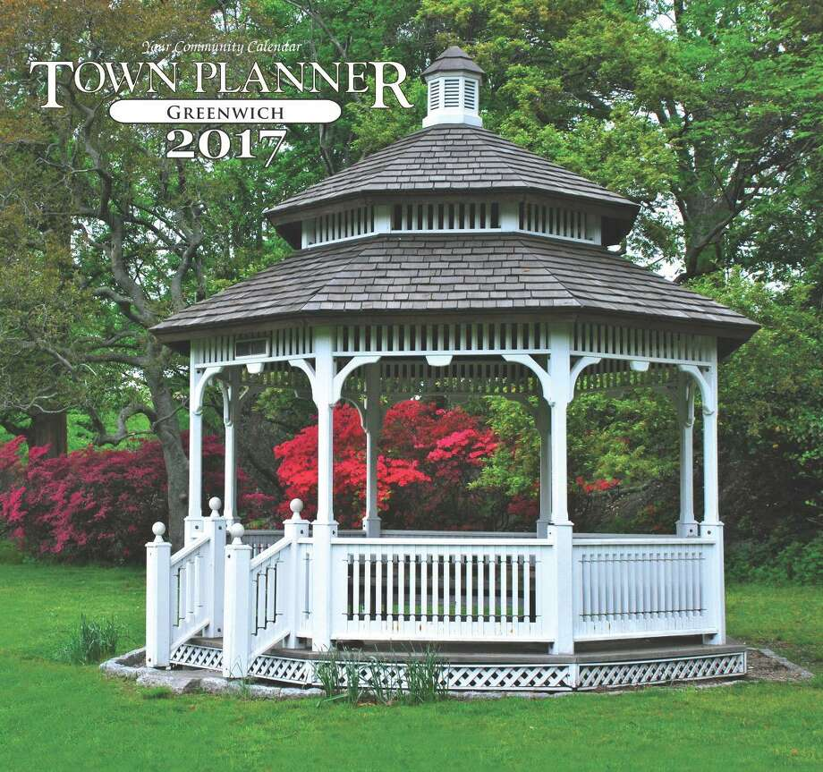 The gazebo at Bruce Park, a photo by Greenwich photographer Julie DiBiase, made the cover of the 2017 Greenwich version of the Town Planner, a free calendar sent to most homes in Fairfield County. DiBiase is one of three Greenwich photographers whose work will be featured in the 2017 version of the Greenwich and Fairfield/Southport planners. Photo: Contributed Julie DiBiase