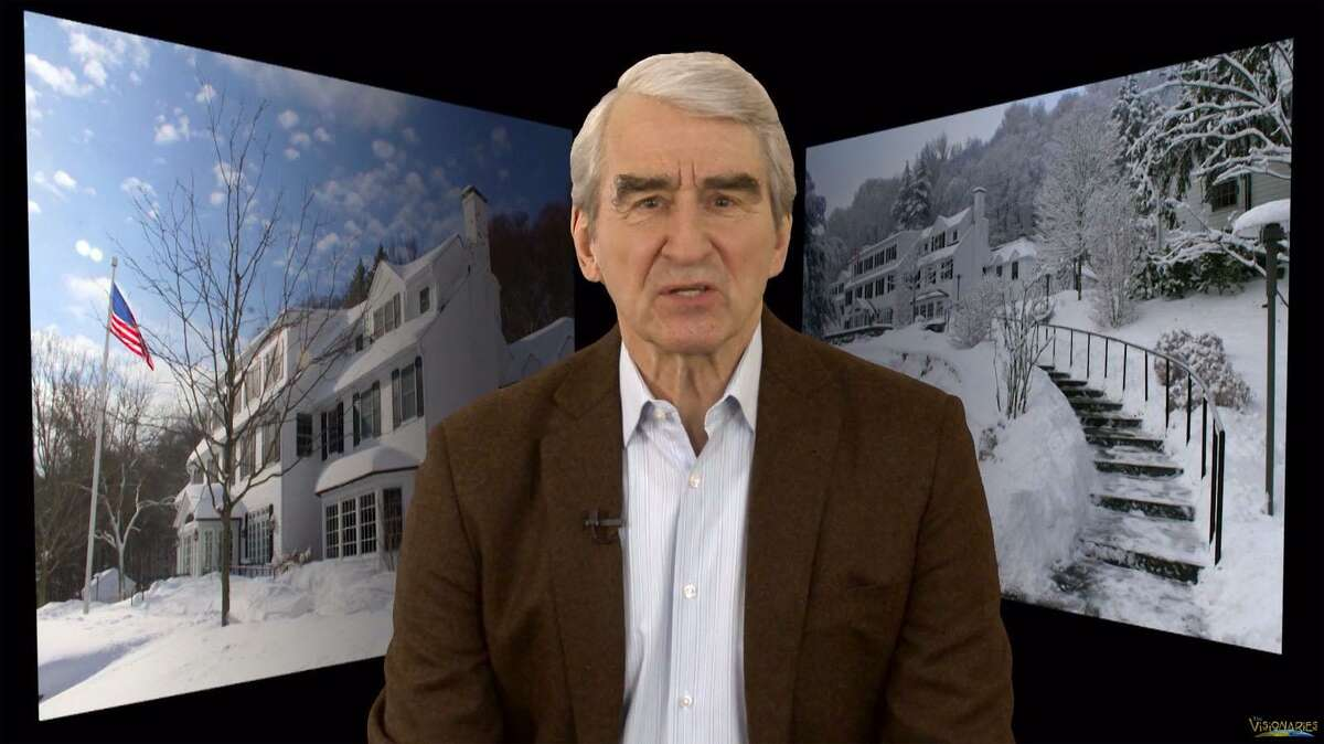 """A screen shot from the CPTV public broadcasting Visionaries documentary, """"Only in The Dark Can You See The Stars,"""" hosted by Sam Waterston about the Silver Hill Psychiatric Hosptial in New Canaan, which was released in November."""