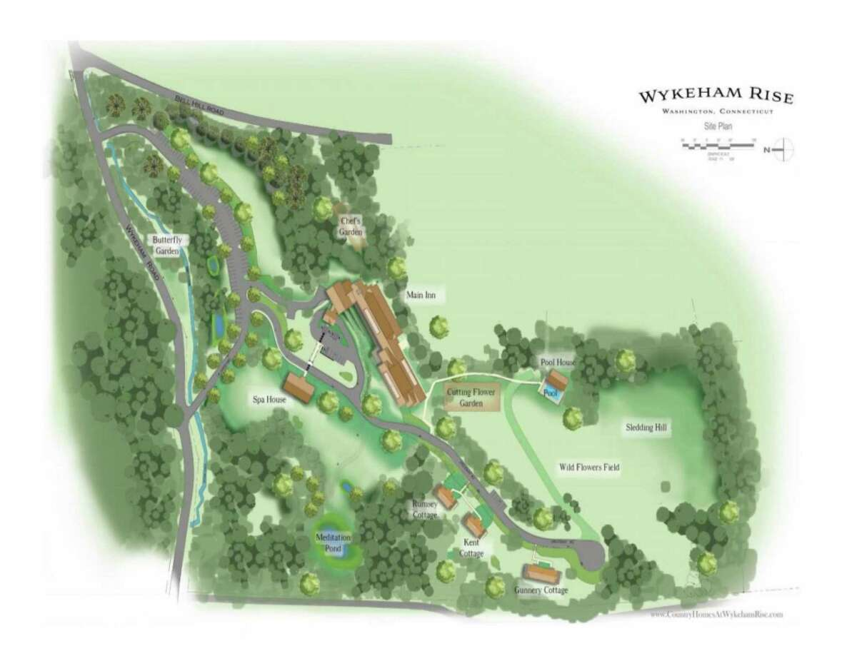 The layout of the new Wykeham Rise campus, a 49-room inn in the Washington's hills.