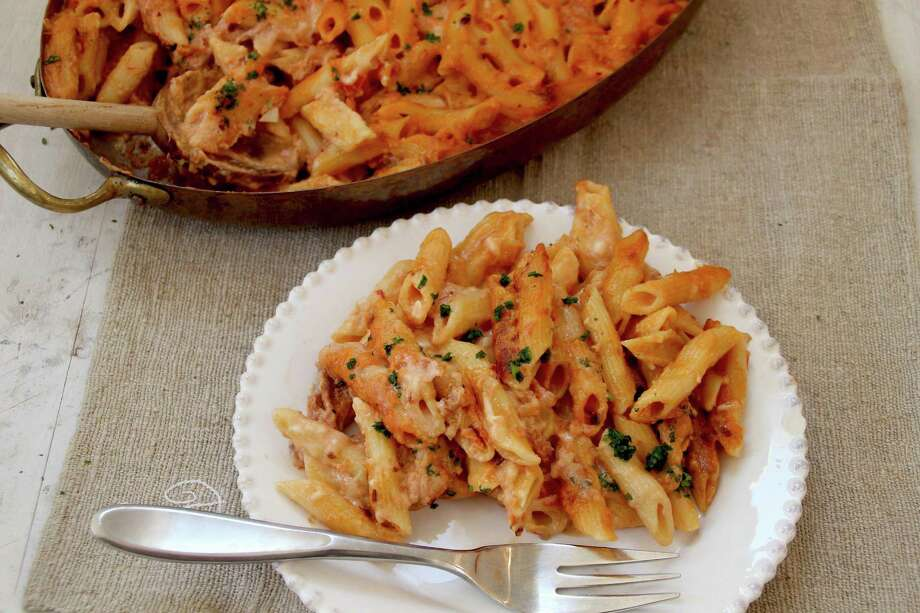 Soak, don't parboil, pasta for this baked penne dish. Photo: Matthew Mead, FRE / FR170582 AP