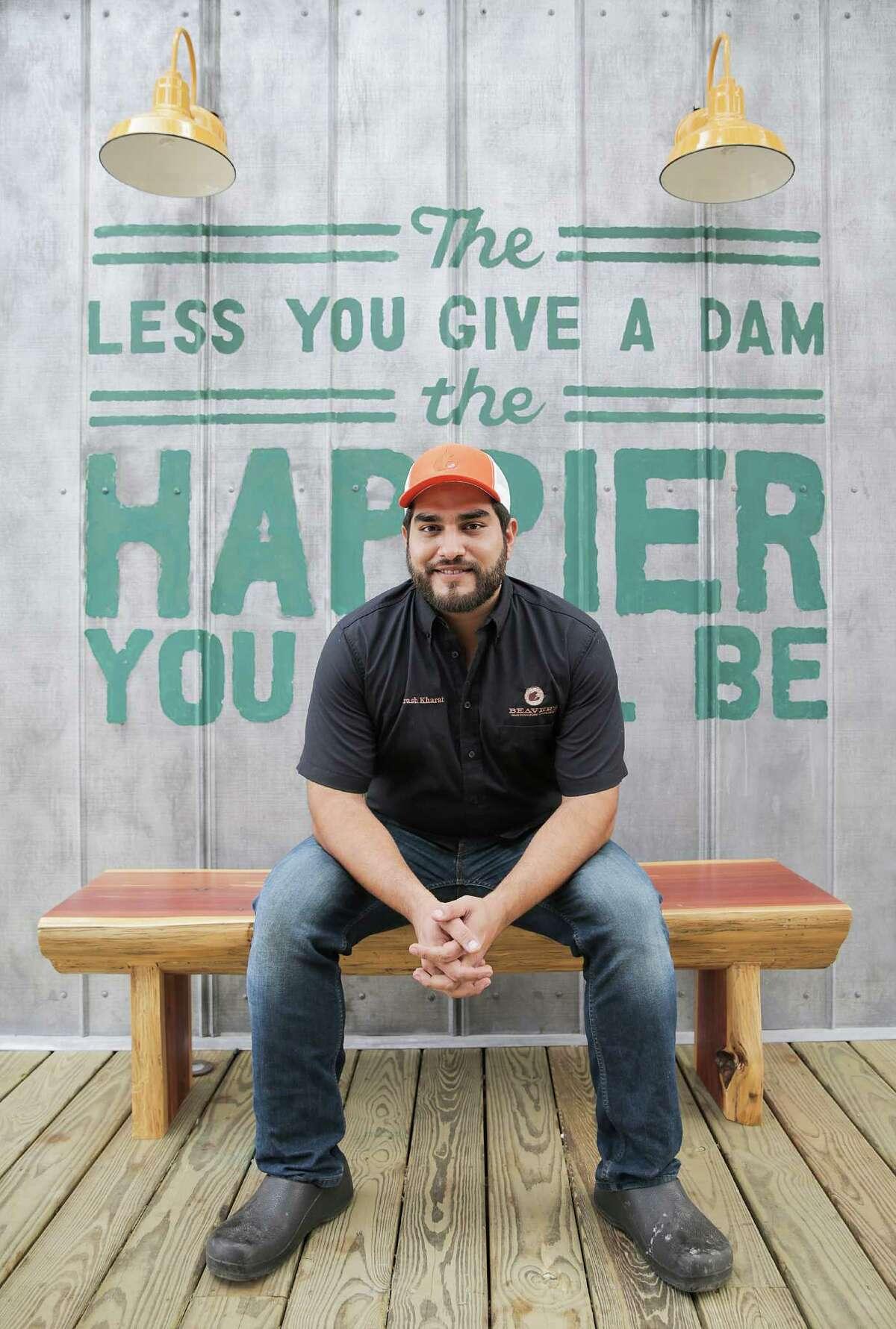 Executive chef Arash Kharat photographed at the new Beaver's Westheimer.