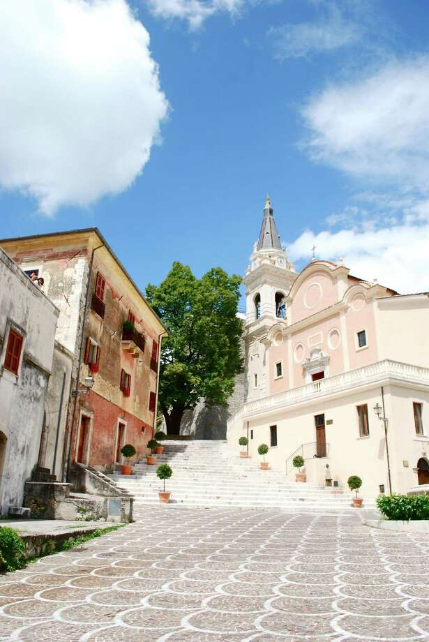 The town square of Settefrati, Italy Photo: Elissa Miolene / Contributed Photo / Stamford Advocate Contributed