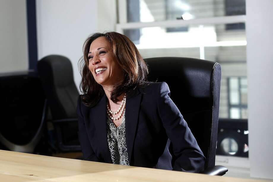 Then-California Attorney General Kamala Harris discusses her run for the U.S. Senate in 2015. She takes office in an uncharted political landscape after Donald Trump's presidential victory. Photo: Sarah Rice, Special To The Chronicle