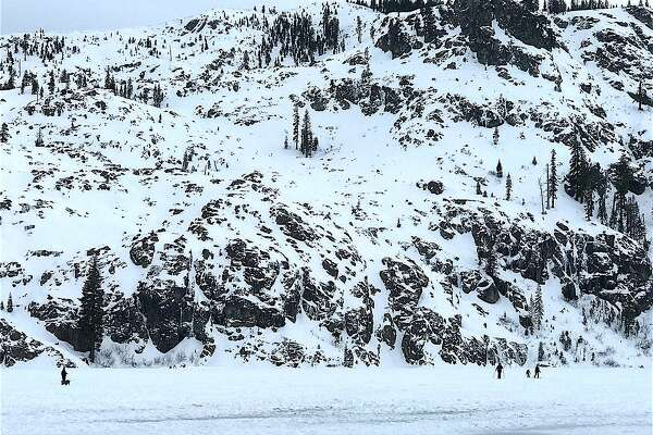 When Arctic air this week froze Castle Lake in the Trinity-Divide in Northern California, people arrived to snow trek, cross-country ski, ice fish and even take their dog for a snow walk