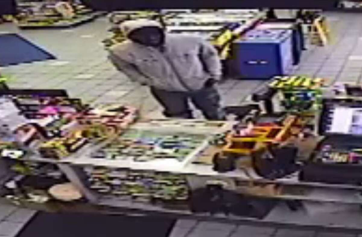 Webster police are searching for a suspect who robbed a gas station in the 1040 block of Bay Area Boulevard on Dec. 5, 2016.