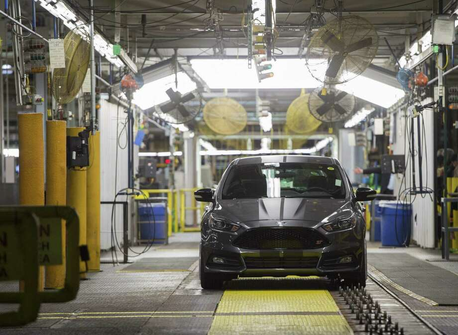 Ford Focus vehicles are assembled at the Ford Michigan Assembly Plant in Wayne, Michigan. Photo: AFP /Getty Images /File Photo / AFP or licensors