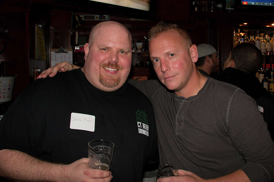 Chris Flynn, founder of CT Beer Drinkers (left) and Ken Tuccio, host and creator of The Local Drinking Show (right). Photo: Marc Forman