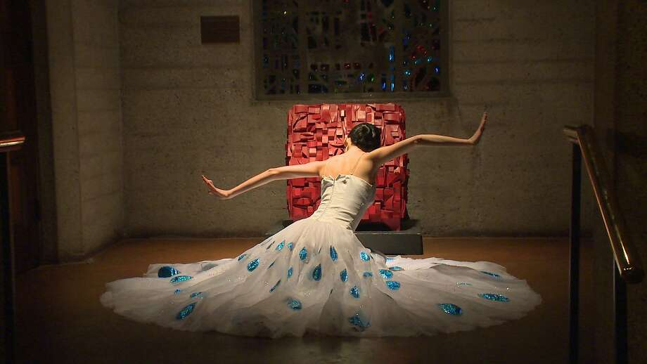 "Lucy Chen performs ""Station of the Dress Elegant"" at Grace Cathedral. Photo: 2nd20 Productions"