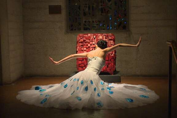 Lucy Chen in the Station of the Dress Elegant in the 2016 Movement Arts Festival at Grace Cathedral.
