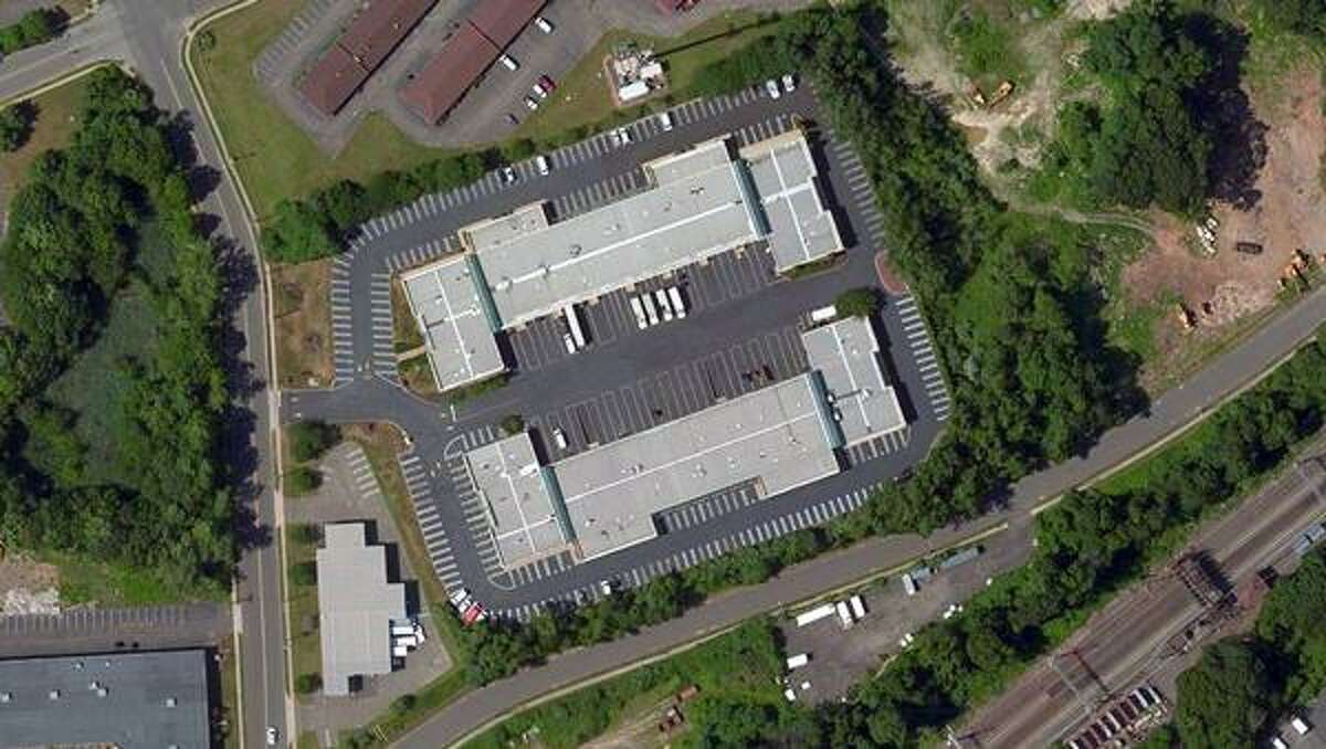An overhead view of the Quarry Road Business Park in Milford.