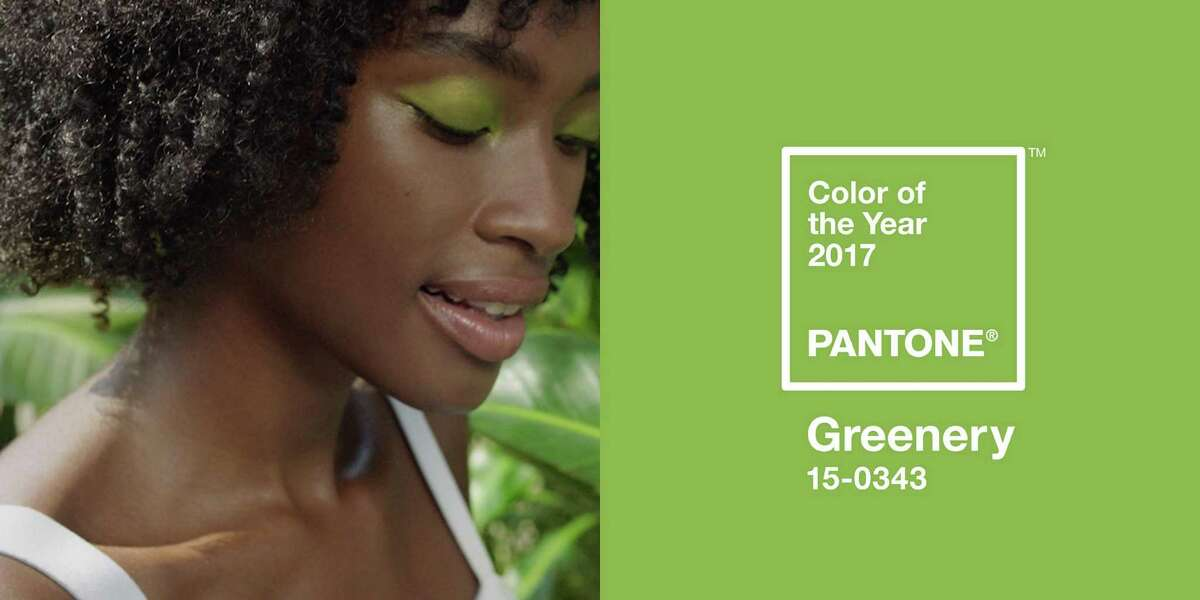 Pantone's hot hue for 2017, greenery, symbolizes new beginnings and signals consumers to take a deep breath, oxygenate and reinvigorate.