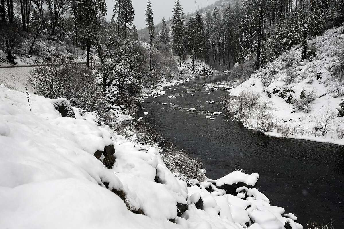 The south fork of the American River winds along highway 50 in the Sierras near Whitehall, California, on Tuesday January 3, 2017.