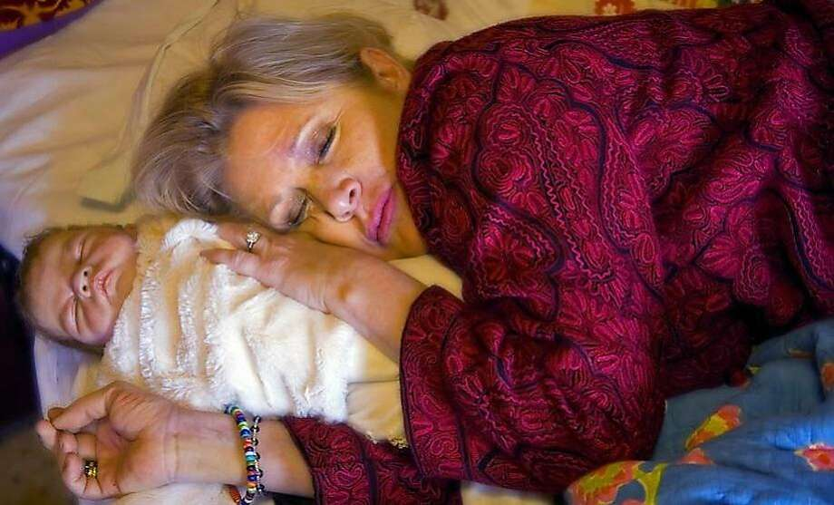 """Carrie Fisher and """"baby"""" in photo taken by Rebecca Martinez in 2008. Photo: Rebecca Martinez, Copyright 2017 Rebecca Martinez"""