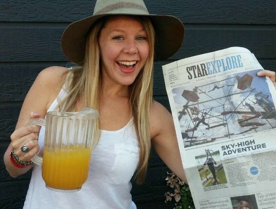 Me, celebrating my first Chronicle byline. Photo: Amber Bayles