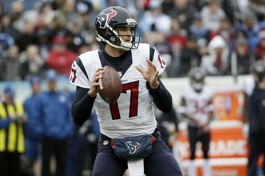 Houston Texans quarterback Brock Osweiler looks to pass against the Tennessee Titans in the first half of an NFL football game Sunday, Jan. 1, 2017, in Nashville, Tenn. (AP Photo/James Kenney) Photo: James Kenney, Associated Press