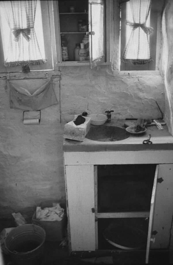 A makeshift kitchen on Barker Ranch. CHP arrested Manson on the ranch in 1969, finding him hidden in a cabinet underneath a sink. Photo: Vernon Merritt III/The LIFE Picture Collection/Getty Images