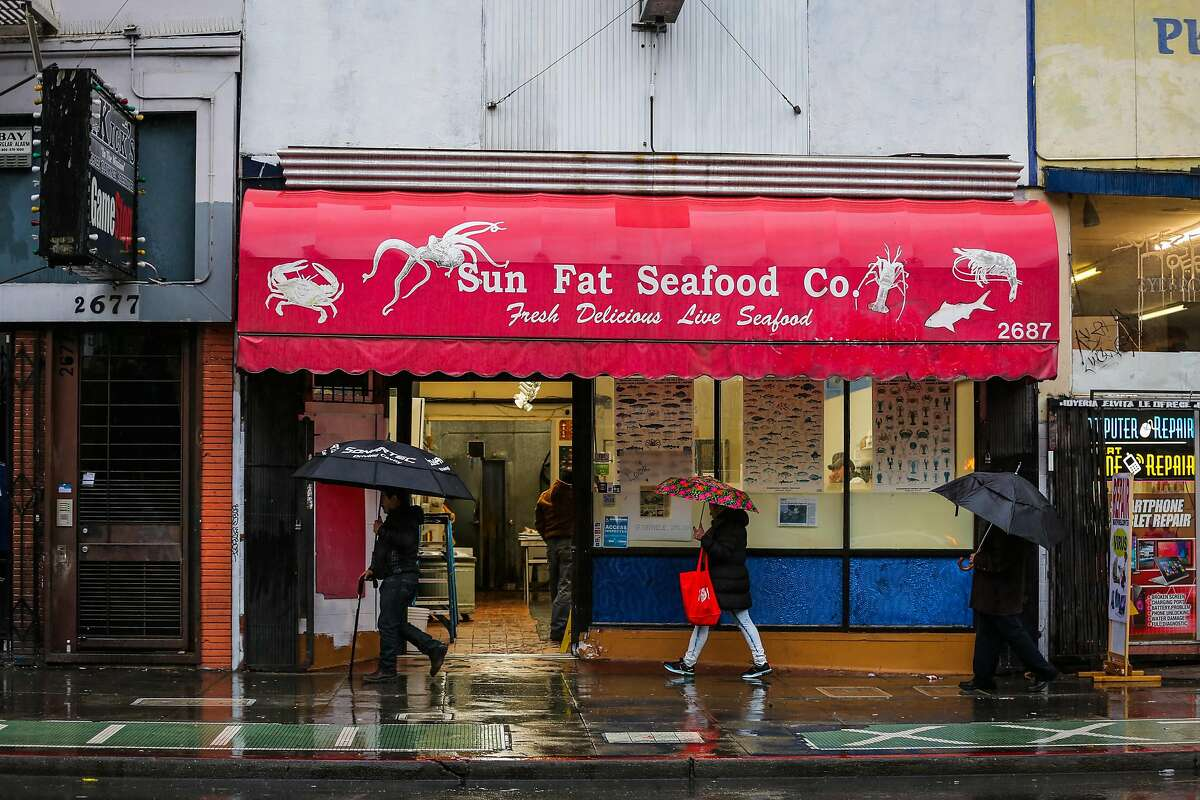The exterior of Sun Fat Seafood Company, a seafood market in the Mission district which has run out of crabs for sale in San Francisco, Calif., on Tuesday, Jan. 3, 2017.