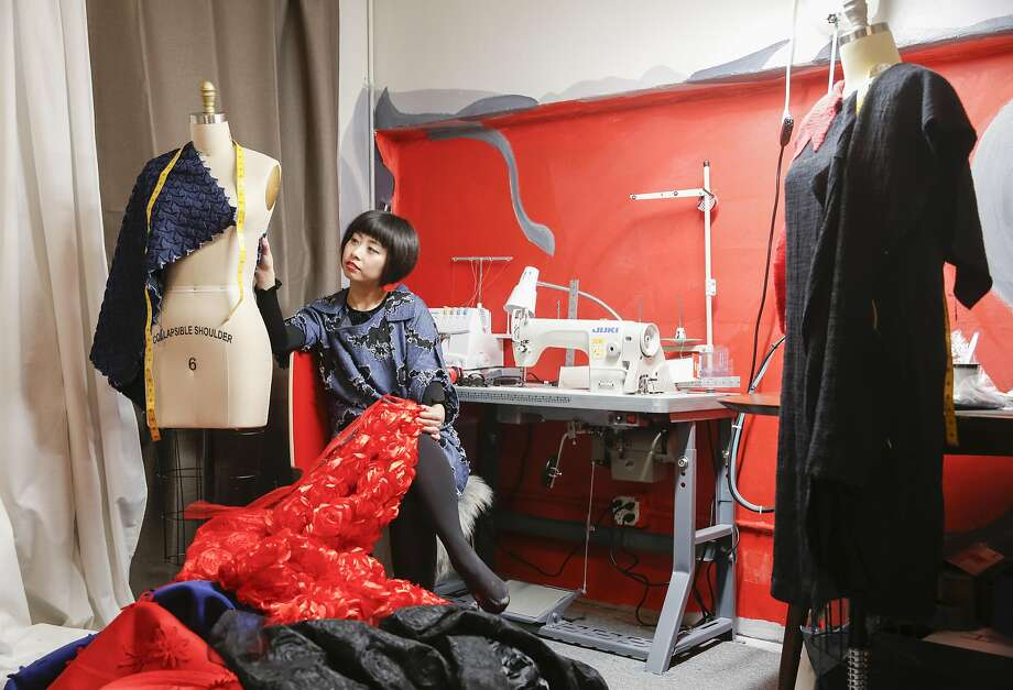 Designer Yuka Uehara is seen in her Tokyo Gamine studio in January. Photo: Russell Yip, The Chronicle
