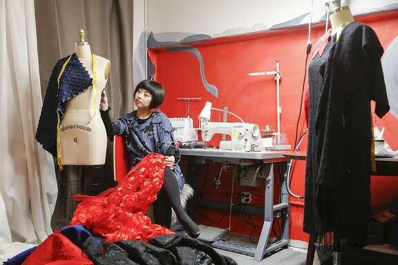 Designer Yuka Uehara is seen in her Tokyo Gamine studio on Tuesday, Jan. 3, 2017 in San Francisco, Calif.