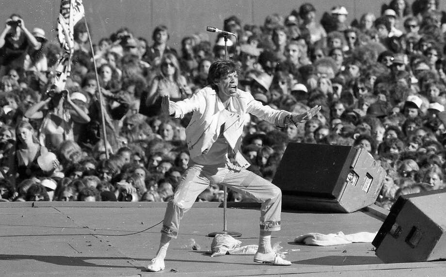 July 26, 1978: The Rolling Stones play at the Oakland Coliseum at Day on the Green 4, which was also Mick Jagger's birthday. Photo: Terry Schmitt, The Chronicle