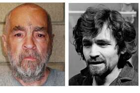 Killer Charles Manson in 2009, left, and in 1970, right. His grand son plans to cre mate Manson's remains and bring the ashes to Florida.