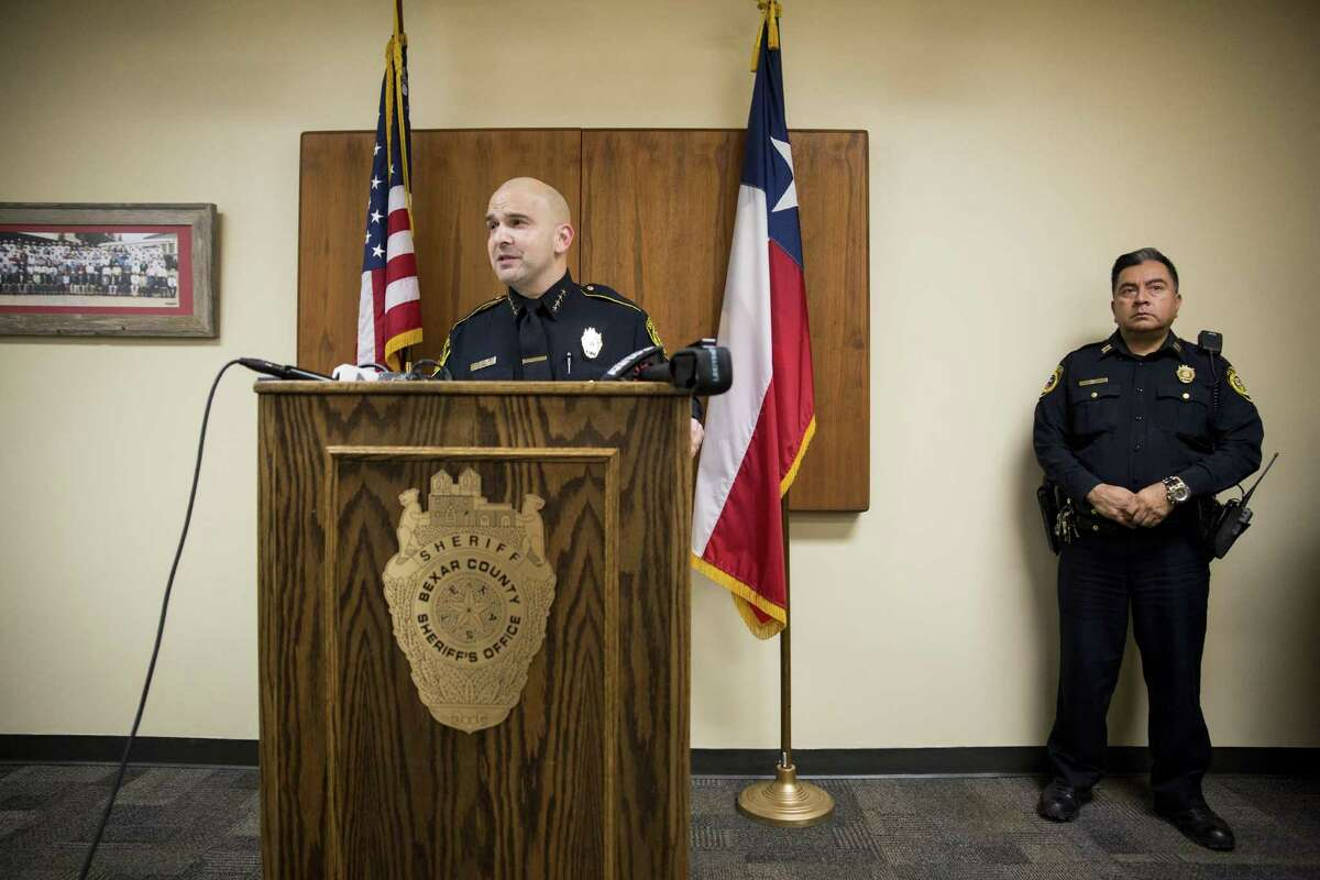 Sheriff Javier Salazar speaks to the press at the Bexar County Sheriff Office on January 3, 2016 in San Antonio, Texas about a case involving the sexual abuse and stabbing of a child.