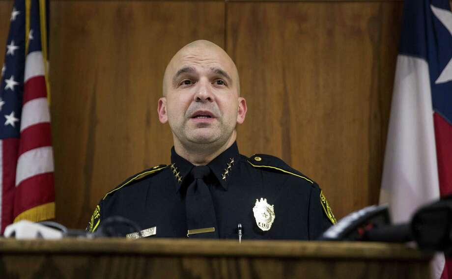 Sheriff Javier Salazar speaks to the press at the Bexar County Sheriff Office on January 3, 2016 in San Antonio, Texas about a case involving the sexual abuse and stabbing of a child. Photo: Carolyn Van Houten / Carolyn Van Houten / 2016 San Antonio Express-News