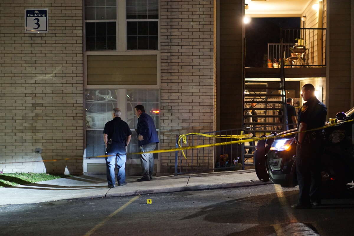 San Antonio Police Department Chief William McManus said one man, in his 30s, was fatally shot in the chest while running to his apartment at about 6:30 p.m. at the Hilltop Oaks Apartments, 6130 Ingram Road.