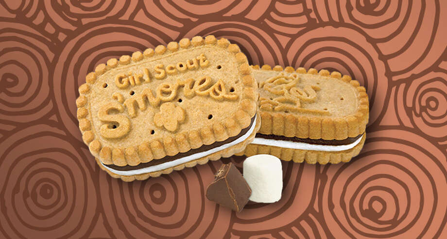 The Girl Scouts are introducing a new S'mores cookie flavor in honor of their 100 year anniversary.Pictured: S'mores cookies for the Little Brownie Bakers Photo: Girl Scout Website