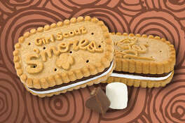 The Girl Scouts are introducing a new S'mores cookie flavor in honor of their 100 year anniversary.   Pictured:  S'mores cookies for the Little Brownie Bakers    Photo: Girl Scout Website
