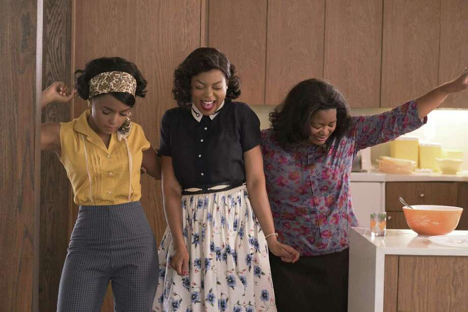 """This image released by Twentieth Century Fox shows Janelle Monae, from left, Taraji P. Henson and Octavia Spencer in a scene from """"Hidden Figures."""" (Hopper Stone/Twentieth Century Fox via AP) Photo: Hopper Stone, HONS / Associated Press / TM & © 2016 Twentieth Century Fox Film Corporation. All Rights Reserved. Not for sale or duplication."""
