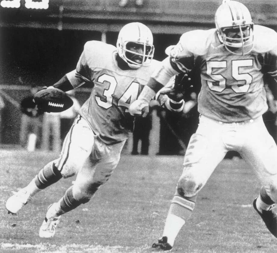 Dec. 24, 1978: Oilers 17, Miami Dolphins 9Dan Pastorini's arm led a strong first half, and Earl Campbell's legs kept the momentum going in the second half. The one constant was Houston's defense, which limited the Dolphins to 206 total yards and forced five turnovers. Miami's only touchdown came after it recovered a fumble on the Houston 21-yard line. The Dolphins did not score again until Pastorini ran out of the end zone for a safety and to run out the clock.Eventual playoff finishLost in conference championship to the Pittsburgh Steelers Photo: Bruce Bennett Studios / Getty Images, Getty Images / 1978 Bruce Bennett Studios