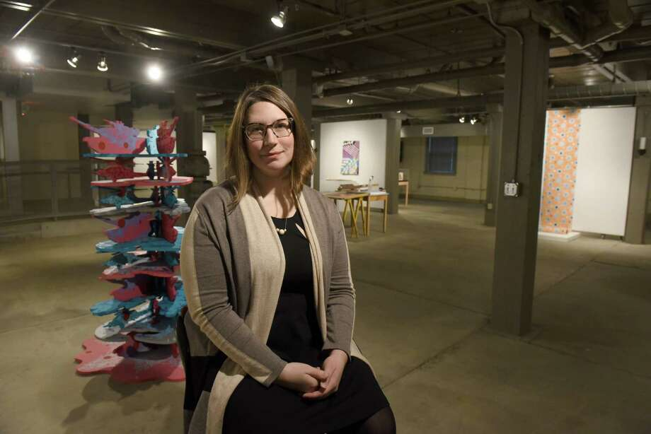 Elizabeth Dubben Executive Director of Collar Works at the gallery on Thursday Dec. 29, 2016 in Troy, N.Y. (Michael P. Farrell/Times Union) Photo: Michael P. Farrell / 20039238A